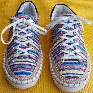 Sam Edelman Kavi low top sneaker in multi-stripe